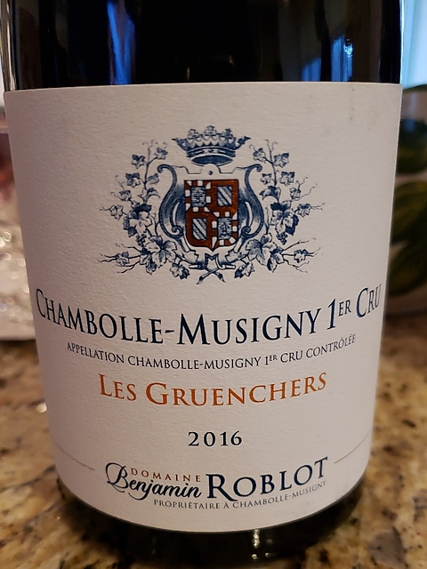 Dom. Benjamin Roblot Chambolle Musigny 1er Cru Les Gruenchers