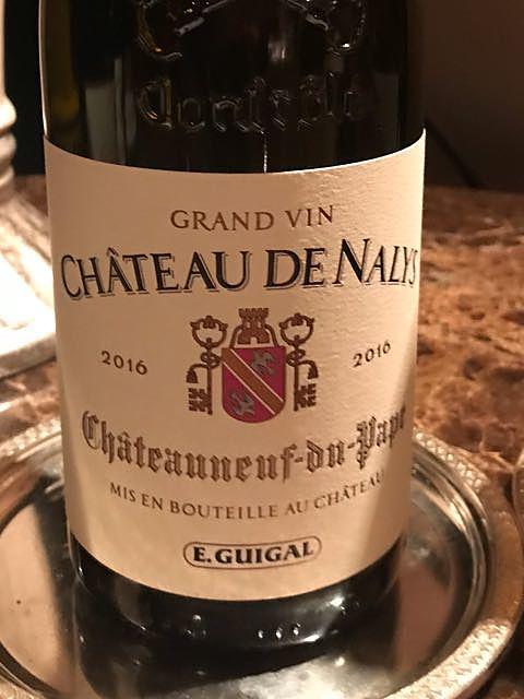 E.Guigal Ch. de Nalys Châteauneuf du Pape Rouge(ギガル シャトー・ド・ナリス シャトーヌフ・デュ・パプ ルージュ)