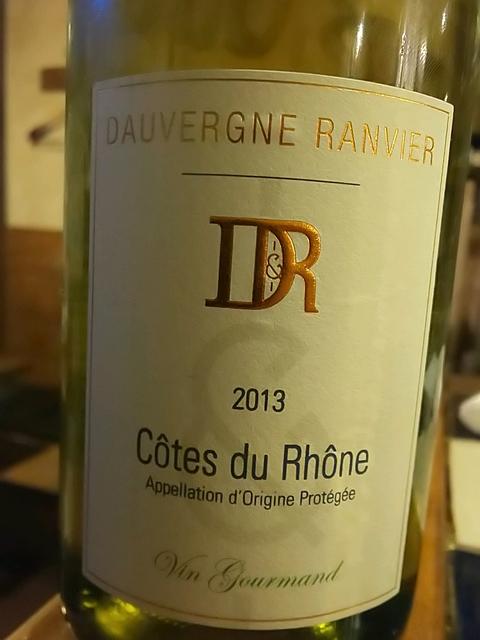 Dauvergne Ranvier Côtes du Rhône Vin Gourmand Blanc