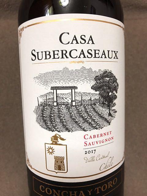 Casa Subercaseaux Cabernet Sauvignon(カーサ・スベルカソー カベルネ・ソーヴィニヨン)