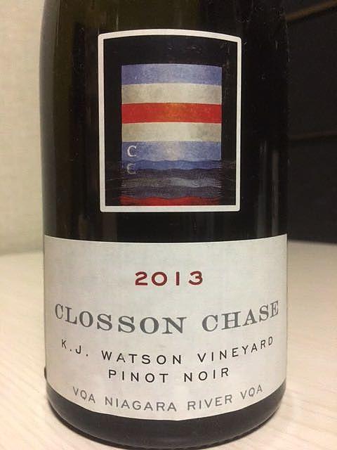 Closson Chase K. J. Watson Vineyard Pinot Noir(クロッソン・チェイス K J ワトソン・ヴィンヤード ピノ・ノワール)