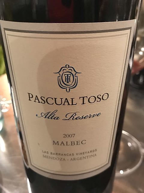 Pascual Toso Alta Reserve Malbec