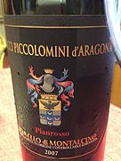 チャッチ・ピッコロミーニ・ダラゴーナ ブルネッロ・ディ・モンタルチーノ ピアンロッソ(2007)
