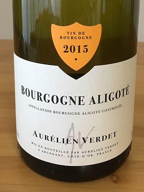 Aurélien Verdet Bourgogne Aligoté