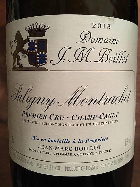 Dom. J. M. Boillot Puligny Montrachet 1er Cru Champ Canet