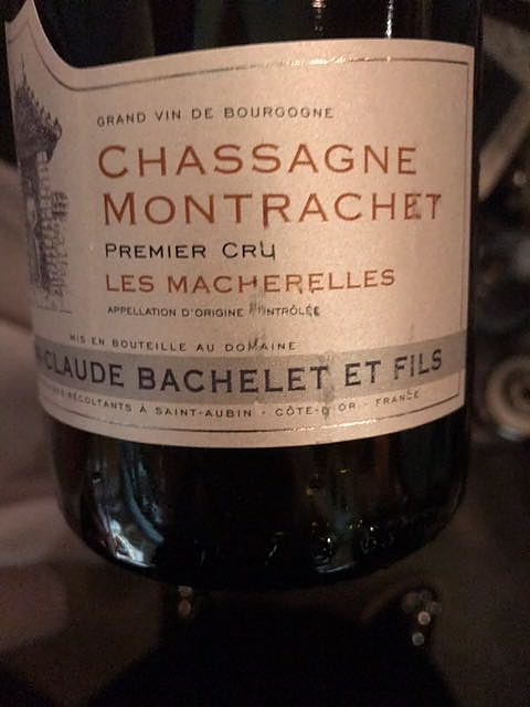 Jean Claude Bachelet et Fils Chassagne Montrachet 1er Cru Les Macherelles