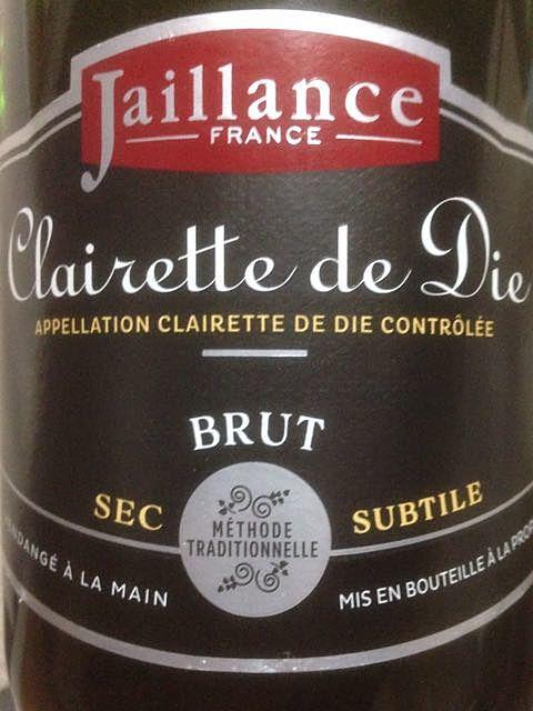 Jaillance Clairette de Die Brut