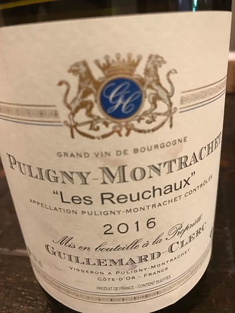 Guillemard Clerc Puligny Montrachet Les Reuchaux(ギュイユマール・クレール ピュリニー・モンラッシェ レ・ルショー)