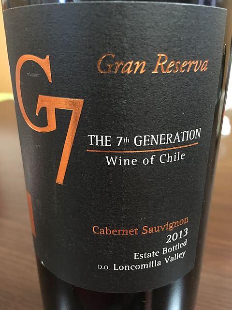 G7 The 7th Generation Gran Reserva Cabernet Sauvignon (Loncomilla Valley)