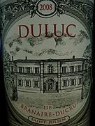 デュリュック・ド・ブラネール・デュクリュ(2008)