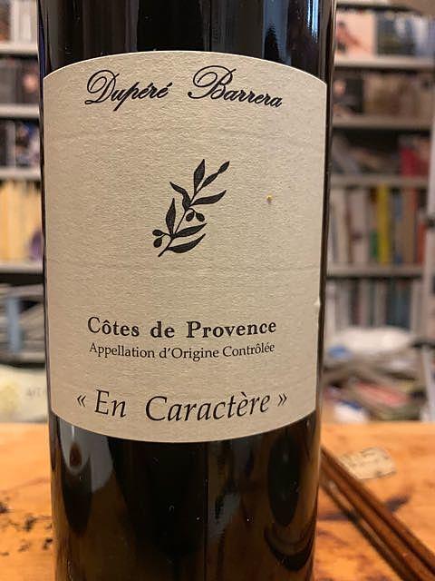Dupéré Barrera Côtes de Provence En Caractère Rouge