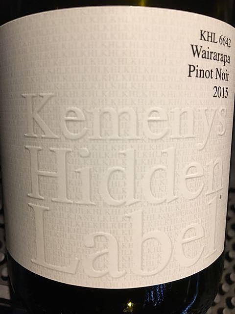 Kemenys Hidden Label KHL 2637 Yarra Valley Pinot Noir
