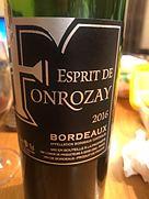 Esprit de Fonrozay Bordeaux(2016)