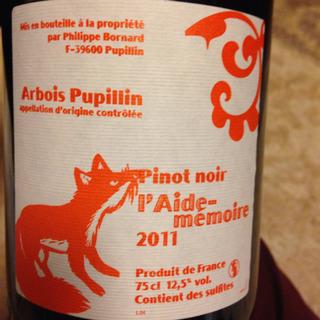 Philippe Bornard Arbois Pupillin Pinot Noir l'Aide Memoire(フィリップ・ボールナール アルボワ・ピュピラン ピノ・ノワール レド・メモワール)