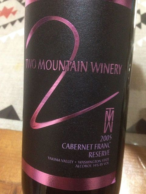 Two Mountain Winery Reserve Cabernet Franc(トゥー・マウンテン・ワイナリー リザーヴ カベルネ・フラン)