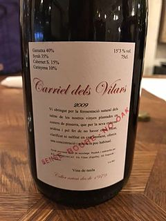 Carriel dels Vilars Tinto 2009(カリエル・デルス・ヴィラース ティント)