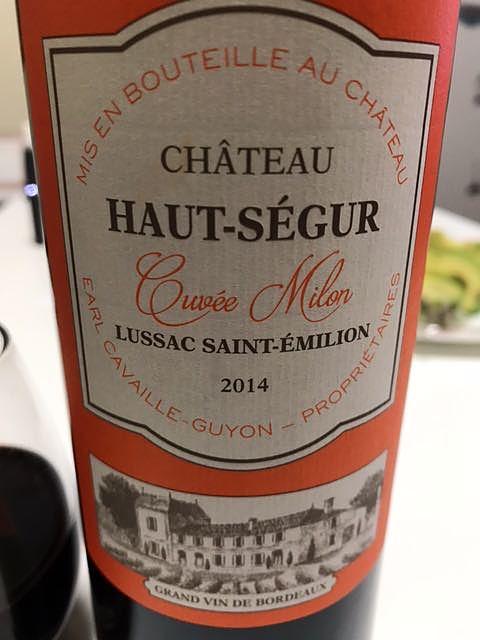 Ch. Haut Ségur Cuvée Milon(シャトー・オー・セギュール キュヴェ・ミロン)