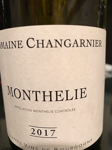 Dom. Changarnier Monthelie Blanc(ドメーヌ・シャンガルニエ モンテリー ブラン)