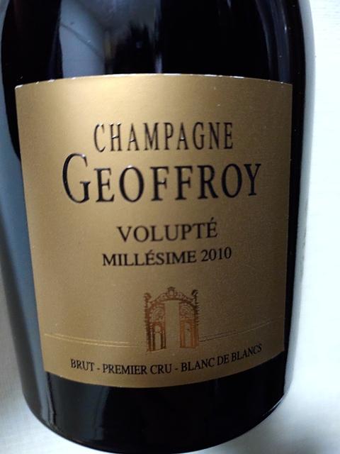 Champagne Geoffroy Volupté 1er Cru Brut 2010(シャンパーニュ・ジョフロワ ヴォリュプテ プルミエ・クリュ ブリュット)