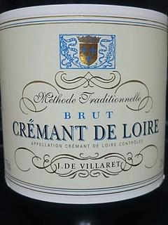 J. De Villaret Crémant de Loire Brut(ジェイ・デ・ヴィラレ クレマン・ド・ロワール ブリュット)