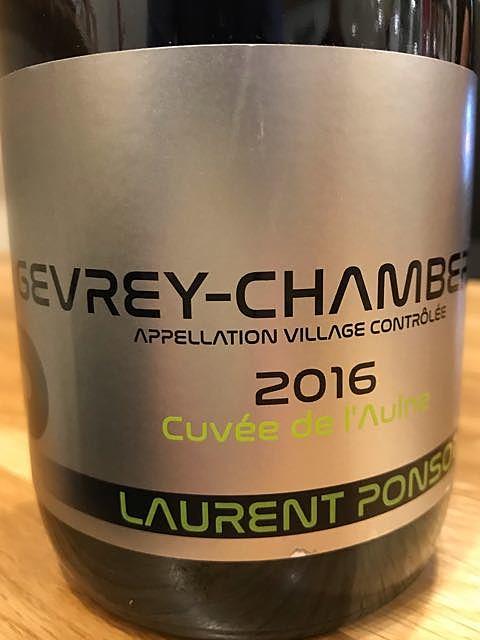 Laurent Ponsot Gevrey Chambertin Cuvée de l'Aulne