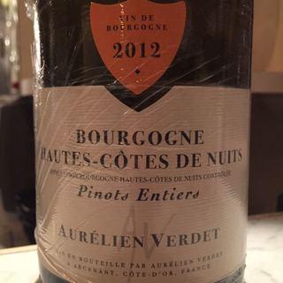 Aurélien Verdet Bourgogne Hautes Côtes de Nuits Pinot Entier