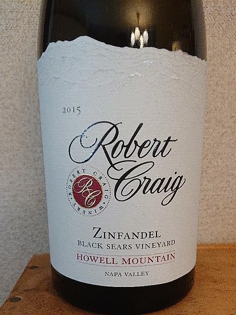 Robert Craig Zinfandel Black Sears Vineyard