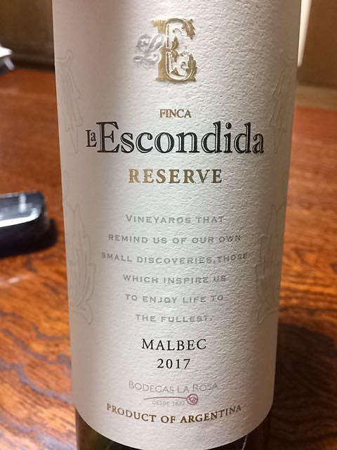 Finca La Escondida Reserve Malbec