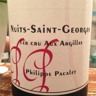 Philippe Pacalet Nuits Saint Georges 1er Cru Aux Argillas