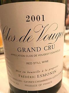 Frédéric Esmonin Clos de Vougeot Grand Cru
