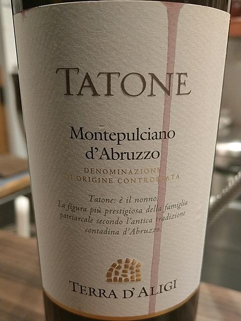 Terra d'Aligi Tatone Montepulciano d'Abruzzo(テッラ・ダリージ タトーネ モンテプルチャーノ・ダブルッツォ)
