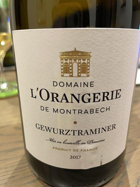 Dom. l'Orangerie de Montrabech Gewürztraminer(ドメーヌ・ロランジェリー・ド・モントラベック ゲヴェルツトラミネール)