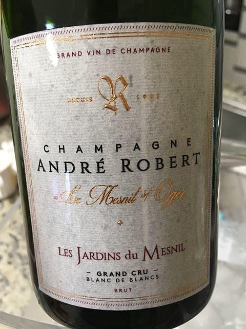 André Robert Les Jardins du Mesnil Grand Cru Blanc de Blancs Brut(アンドレ・ロベール レ・ジャルダン・デュ・メニル グラン・クリュ ブラン・ド・ブラン ブリュット)