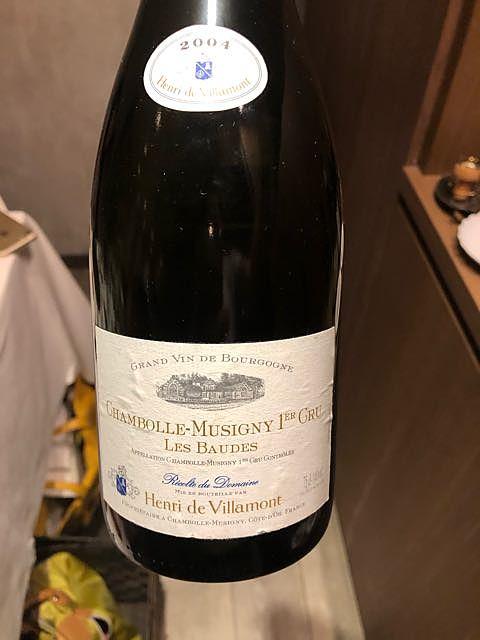 Henri de Villamont Chambolle Musigny 1er Cru Les Baudes(アンリ・ド・ヴィラモン シャンボール・ミュジニー プルミエ・クリュ レ・ボード)