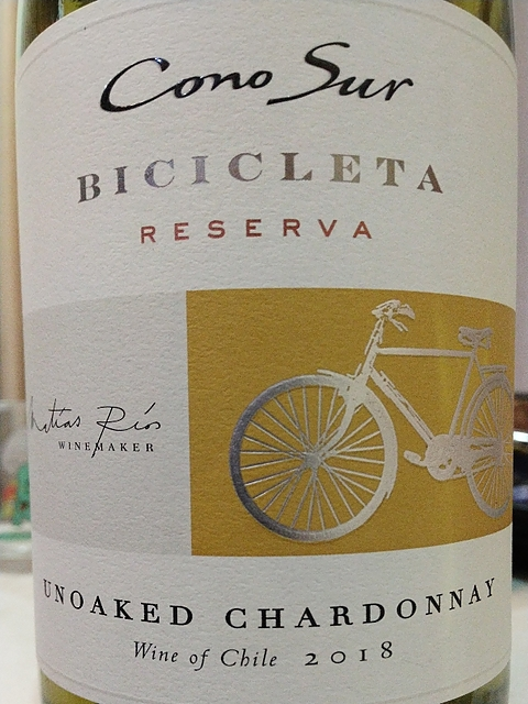 Cono Sur Bicicleta Unoaked Chardonnay Reserva(コノ・スル ビシクレタ アンオークド・シャルドネ レゼルヴァ)