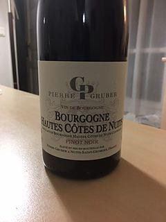 Pierre Gruber Bourgogne Hautes Côtes de Nuits Rouge(ピエール・グルーバー ブルゴーニュ オート・コート・ド・ニュイ ルージュ)