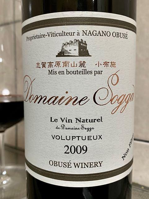 小布施ワイナリー Dom. Sogga Le Vin Naturel Voluptueux