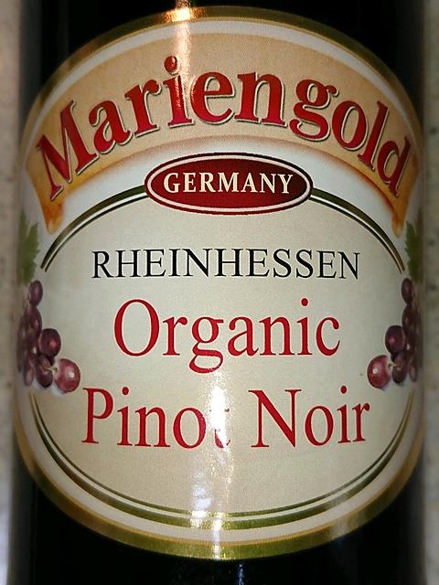 Mariengold Organic Pinot Noir(マリエンゴールド オーガニック ピノ・ノワール)