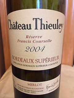 Ch. Thieuley Bordeaux Supérieur Réserve Francis Courselle