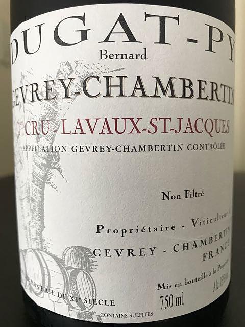Bernard Dugat Py Gevrey Chambertin 1er Cru Lavaux St Jacques