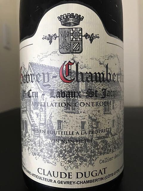 Claude Dugat Gevrey Chambertin 1er Cru Lavaux St Jacques(クロード・デュガ ジュヴレ・シャンベルタン プルミエ・クリュ ラヴォー・サンジャック)