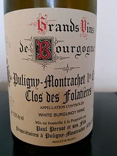 Paul Pernot et Ses Fils Puligny Montrachet 1er Cru Clos des Folatières