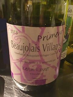 Karim Vionnet Beaujolais Villages Primeur