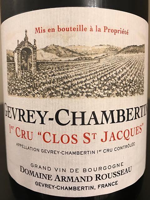 Dom. Armand Rousseau Gevrey Chambertin 1er Cru Clos St. Jacques