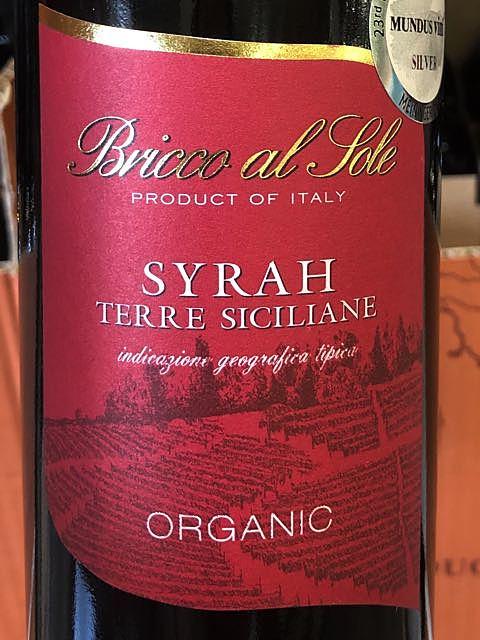 Bricco al Sole Syrah Organic