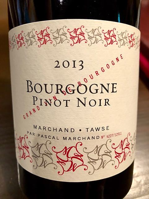 Marchand Tawse Bourgogne Pinot Noir(マルシャン・トーズ ブルゴーニュピノ・ノワール)