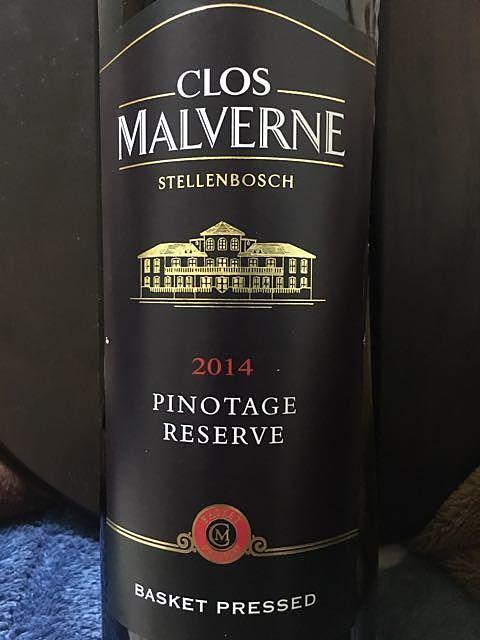 Clos Malverne Pinotage Reserve(クロ・マルヴェルヌ ピノタージュ リザーヴ)
