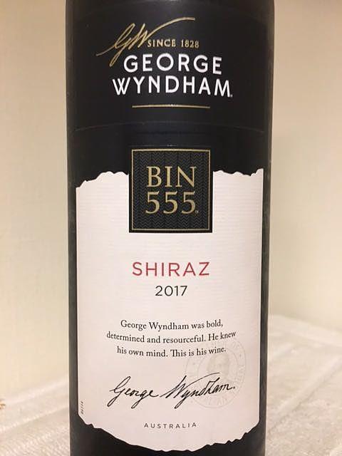 George Wyndham Bin555 Shiraz