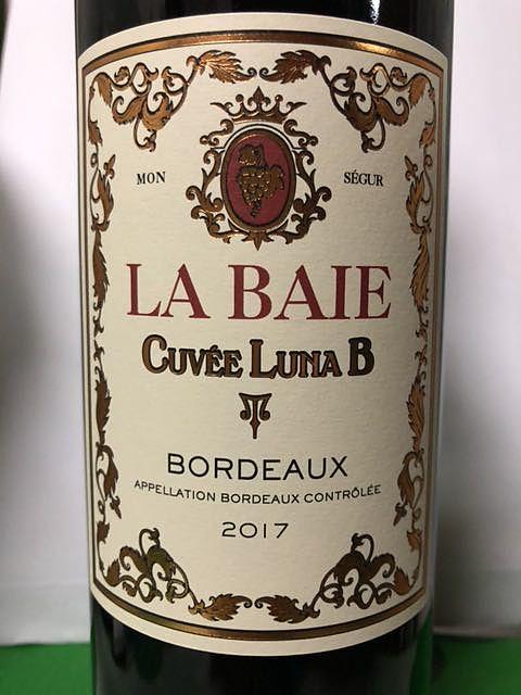 La Baie Cuvée Luna B(ラ・ベ キュヴェ ルナ・ベー)
