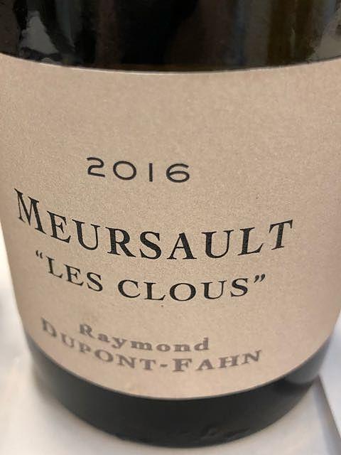 Raymond Dupont Fahn Meursault Les Clous